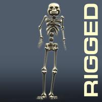maya rigged cartoon sceleton