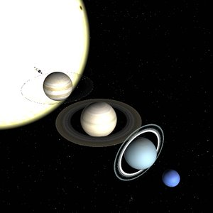 truespace solar sun planets