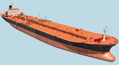 motor tanker ship 3d model
