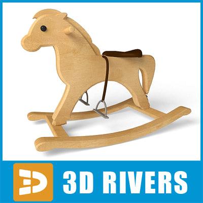 3d model horse shoofly toys