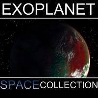3d alien planet