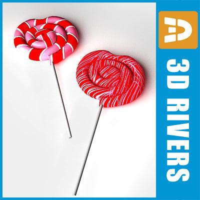 valentine day lollipops 3d max