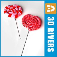 valentine day lollipops 3d max