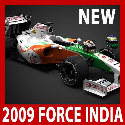 3d model 1 f1 force india