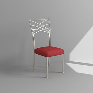 3d model metal dining chair