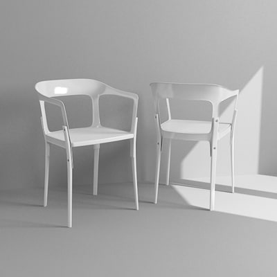 3d contemporary armchair model