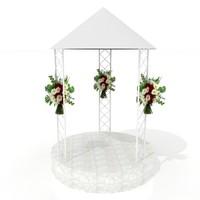Wedding Platform - High Quality Architectural 3d model
