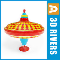whipping-top toy 3d model