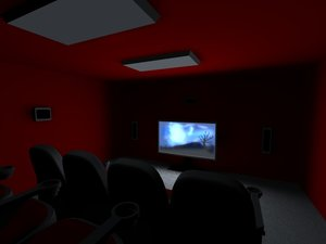 3d model home theater