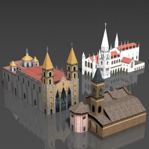 3d model building cathedral