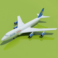 Egypt Air 3D Model Boeing 747