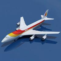b 747 iberia 3d model