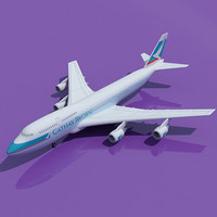Cathay Pacific Boeing 747 3D Model