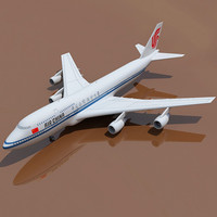 3d model of b 747 china