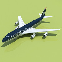 US Airways Model Boeing 747  1