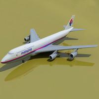 3d b 747 malaysia model