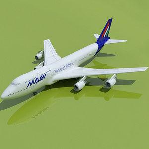 b 747 hungarian 3d max