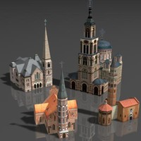 3d building cathedral model