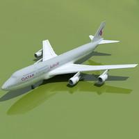 3d b 747 qatar model