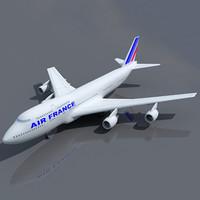 b 747 air france 3d 3ds