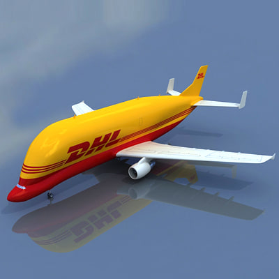 3d airbus super transporter dhl