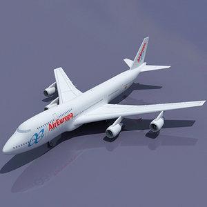 3d b 747 europa model