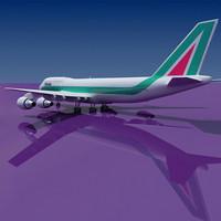 b 747 alitalia 3d model