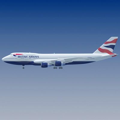 b 747 british 3d max