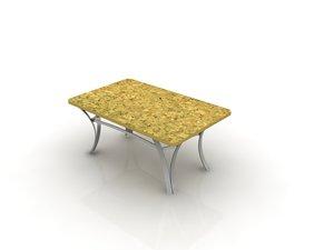 3d model atlantis center table sofa