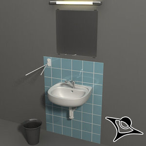 3ds max bathroom