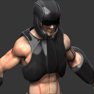 scifi character 3d model