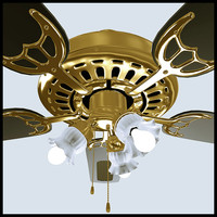 decorative fan 3d obj