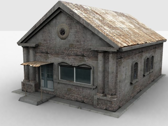 low-poly house 3d max
