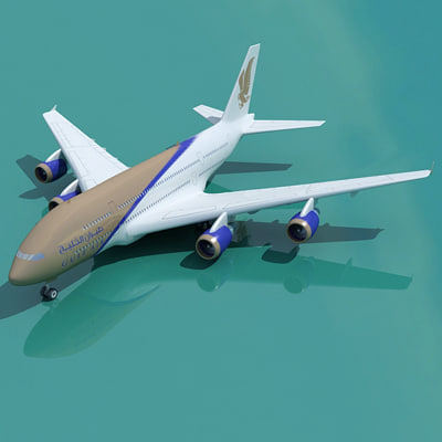 airbus a380 gluf air 3d 3ds