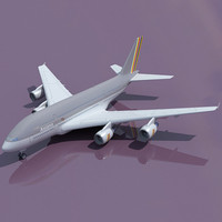 3d model airbus a380 asiana
