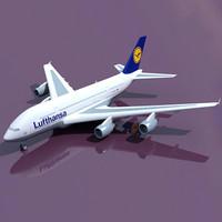 Lufthansa 3D Model Airbus A380
