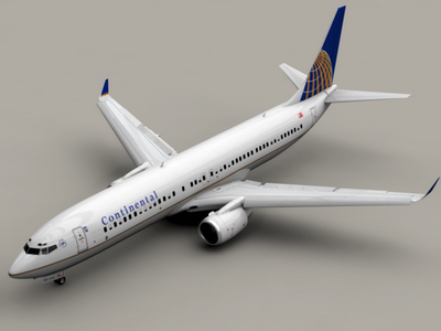 3d model b 737-900 continental airlines