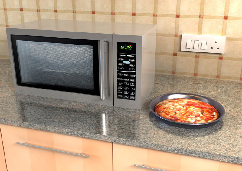 3d model microwave micro wave