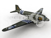 douglas c-47 transport 3d model