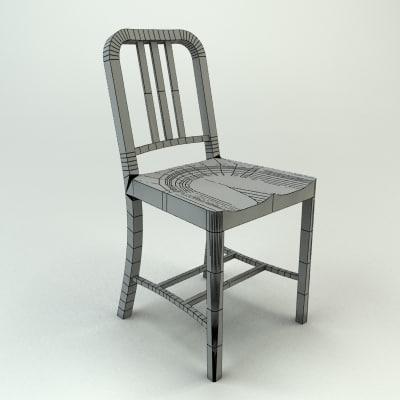 3d model emeco navy chair