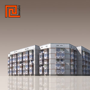 building modelled 3d model