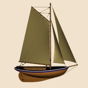 boat sailboat 3ds