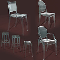 3ds kartell chairs collections