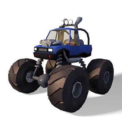 3dsmax monster truck uv
