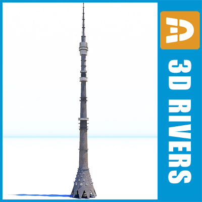 3dsmax moscow television tower ostankino
