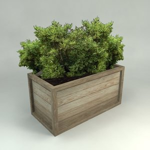 3ds max wooden planter