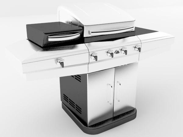 grill parrilla 3d model