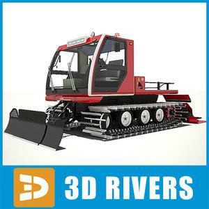 ratrac snow ski 3d model
