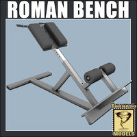 roman bench 3d model