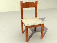 chair rustic silla 3ds